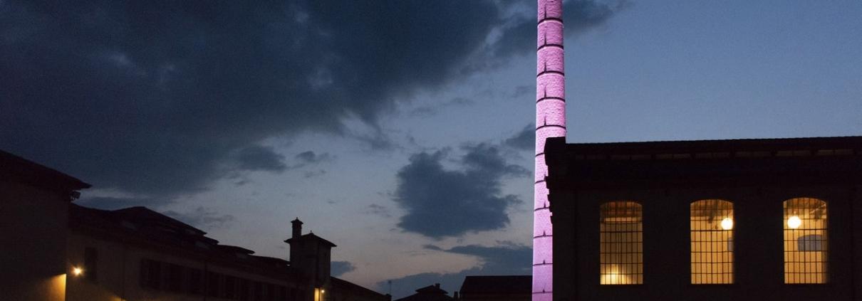 Illuminazione scenografica della Filanda Motta